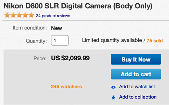 Nikon-D800-grey-market-sale