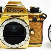 Nikon FA limited edition gold film camera 5