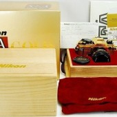 Nikon FA limited edition gold film camera 7