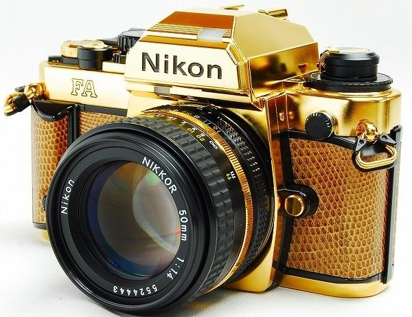 Nikon FA limited edition gold film camera