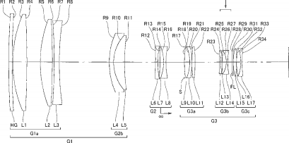Nikon Nikkor 400mm f:2.8 lens patent
