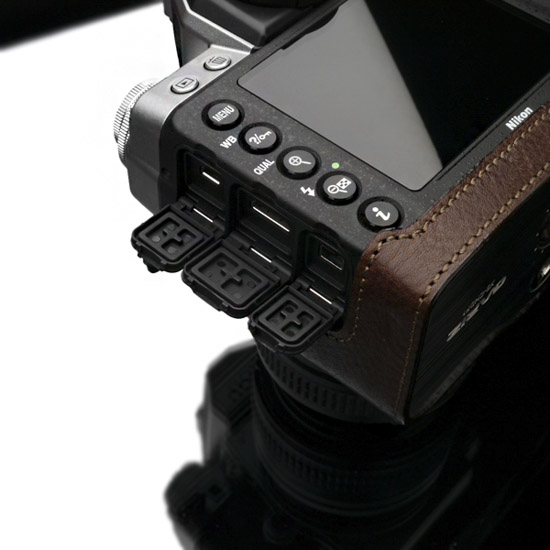 Gariz half leather case for Nikon Df camera 10