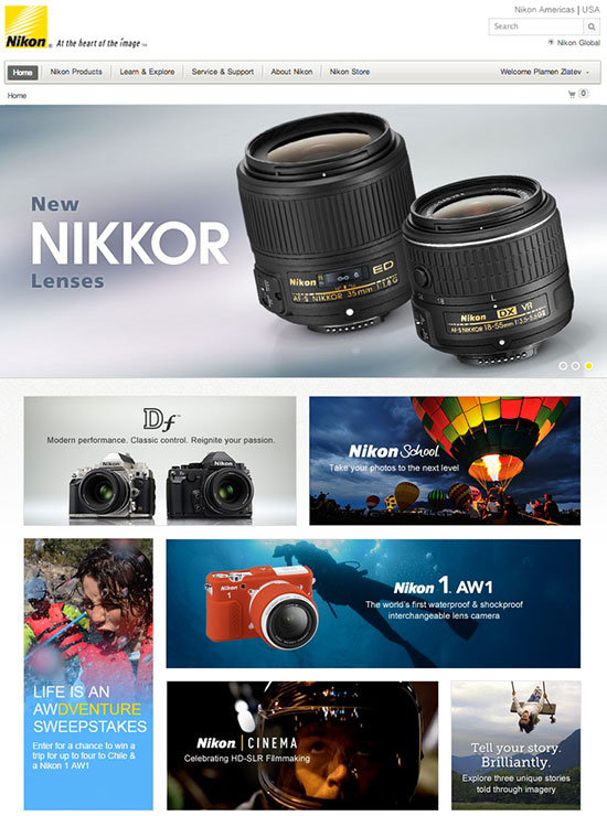 New-Nikon-USA-website