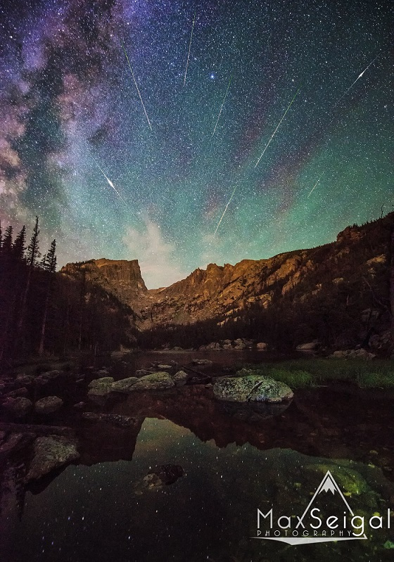Meteor Shower at Dream Lake - Rocky Mountain National Park Photo by Max Seigal www.maxwilderness.com ------------------Shooting Data----------------- Date: August 13, 2013 Time: 01:06:36 AM Model: NIKON D600 Aperature: f/2.8 Shutter: 30 ISO: 6400 Lens: AF Zoom 14-24mm f/2.8G Focal Length: 14MM 26631