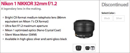 Nikon-1-Nikkor-32mm-f1.2-lens-discontinued