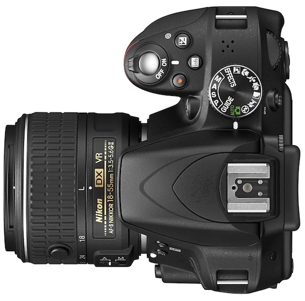 Nikon D3300 DSLR camera top