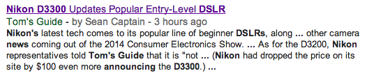 Nikon D3300 article leaks online
