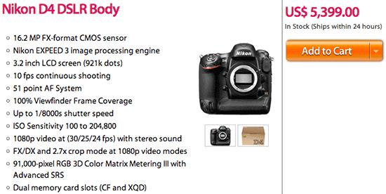 Nikon-D4-camera-on-sale