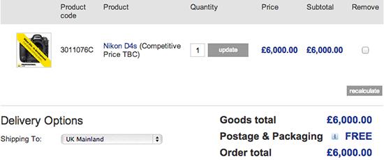 Nikon-D4s-price-UK