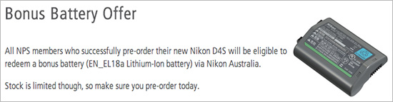 Free-battery-with-Nikon-D4s-order