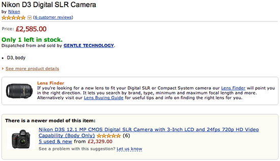 New-Nikon-D3-D3s-for-sale-Amazon-UK