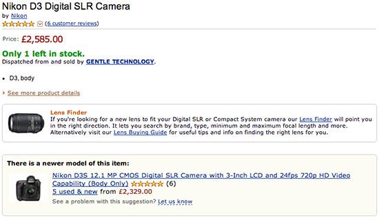 New-Nikon-D3-D3s-for-sale-Amazon-UK