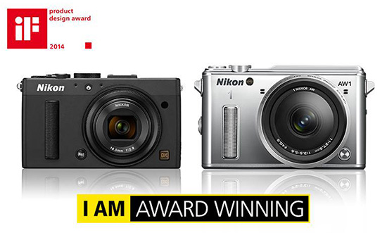 Nikon-1-AW1-Coolpix-A-cameras-2014-iF-product-design-award.