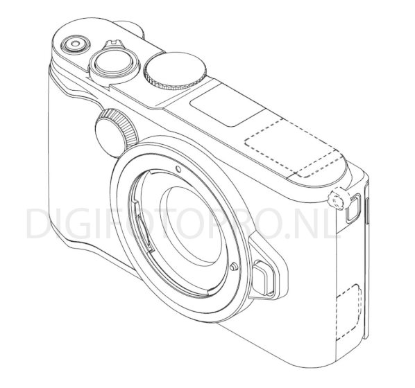 Nikon 1 mirrorless camera design patent