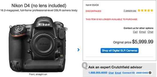 Nikon-D4-camera-discontinued