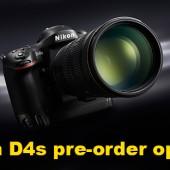 Nikon D4s camera pre-order options