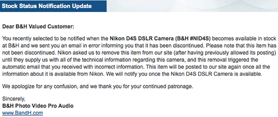 Nikon-D4s-listing-removed