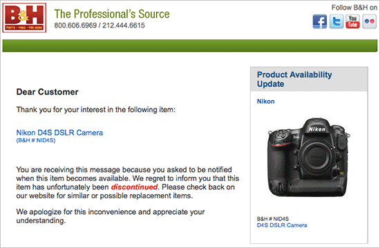 Nikon-D4s-not-discontinued