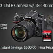 Nikon D7100 camera kit sale discount