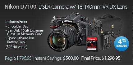 Nikon D7100 camera kit sale discount