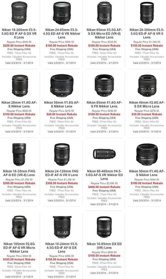 Nikon-instant-lens-rebates-free-accessories