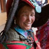 Changpa Nomad woman at the Korzok Gustor, Lake Tsomoriri,Ladakh,