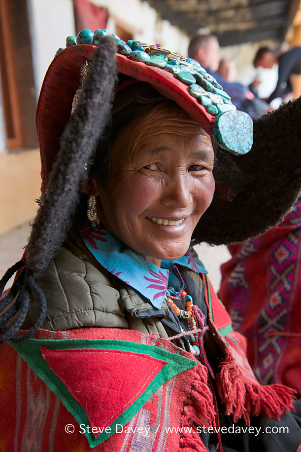 Changpa Nomad woman at the Korzok Gustor, Lake Tsomoriri,Ladakh,