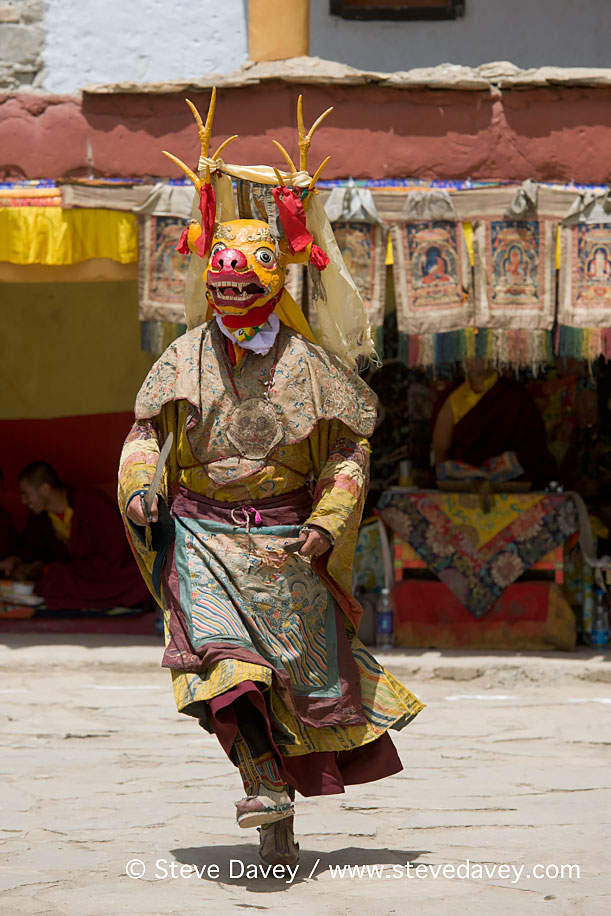 Masked Cham Dancer at the Korzok Gustor, Lake Tsomoriri, Ladakh,