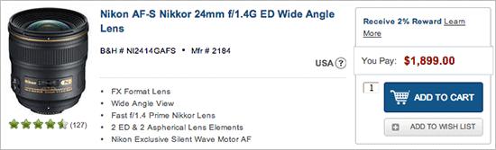 Nikkor-24mm-f1.4G-lens-price-drop