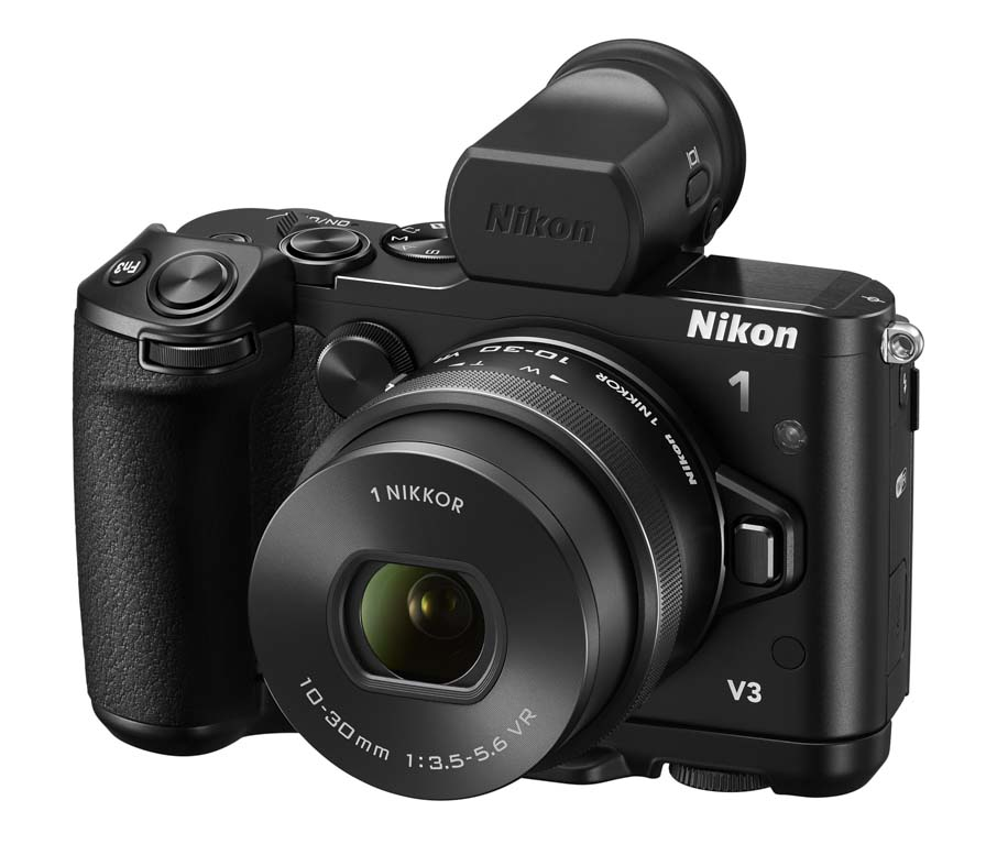 Additional images of the Nikon 1 V3 camera with the optional
