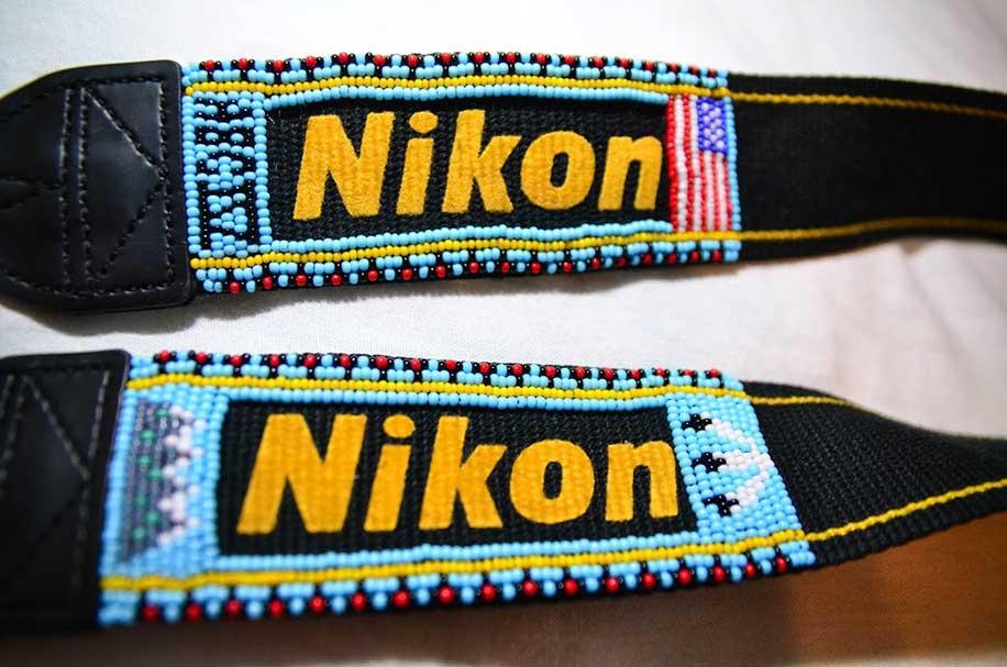 Nikon-neck-strap-with-indian-hand-beadwork