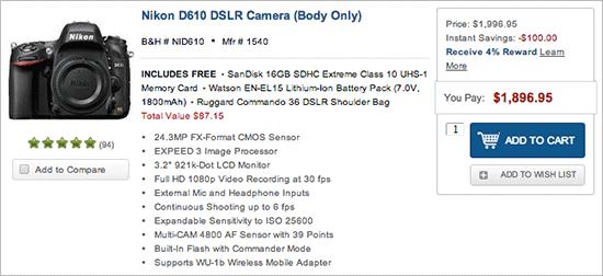 Niukon-D610-camera-price-drop