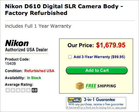 Refurbished-Nikon-D610-camera-sale