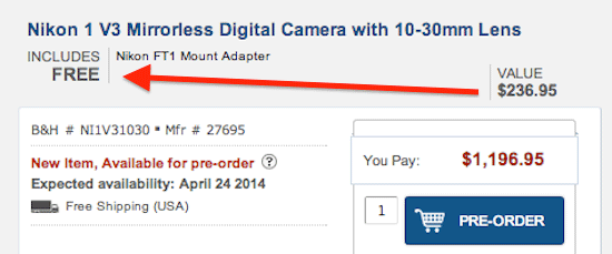 Free-Nikon-FT1-adapter-with-Nikon-V3-camera