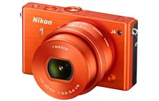 Nikon 1 J4 camera orange