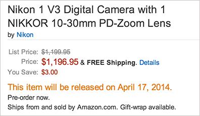 Nikon-1-V3-camera-shipping-date