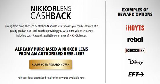Nikon-Australia-cash-back