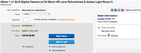 Nikon-1-J1-refurbsihed-camera-deal