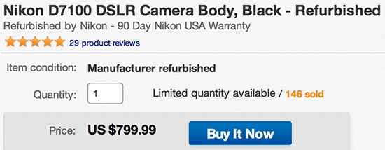 Refurbished-Nikon-D7100-camera-sale