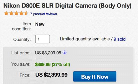 Nikon-D800E-camera-on-sale
