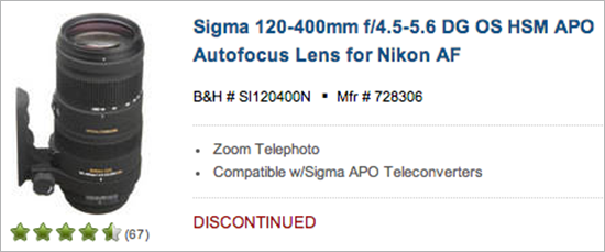 Sigma-120-400mm-f4.5-5.6-DG-OS-HSM-APO-lens-discontinued