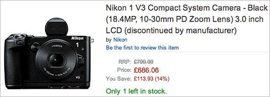 Nikon-1-V3-camera-discontinued