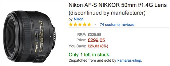 Nikon-50mm-f1.4G-lens-dicontinued