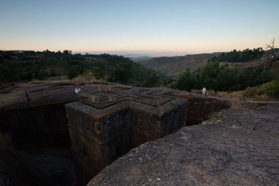 Lalibela, Ethiopia: Saint George Cathedral at sunrise