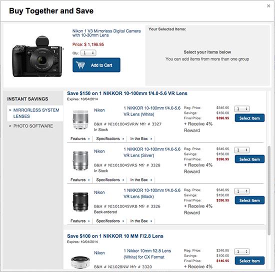 Nikon 1 V3 FT1 Mount Adapter