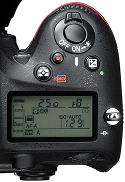 Nikon-D610-top-LCD-screen