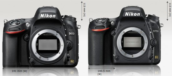 Nikon-D610-vs-D750-size-comparison
