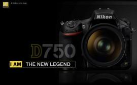 Nikon D750 DSLR camera mockup