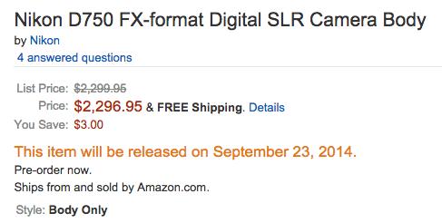 Nikon-D750-shipping-date-Amazon