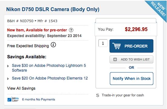 Nikon-D750-shipping-date